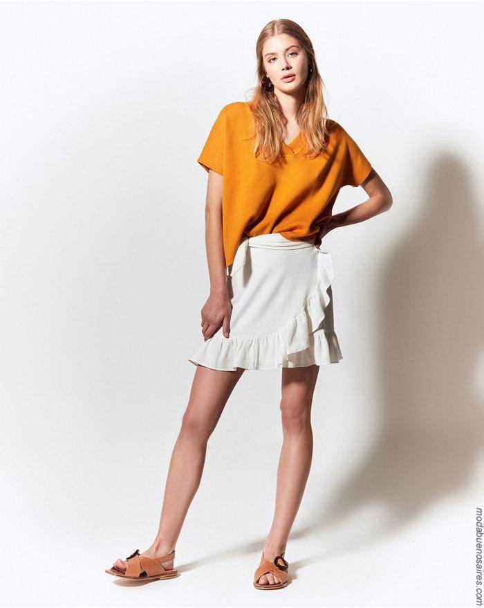 Remera sy minifaldas primavera verano 2020.