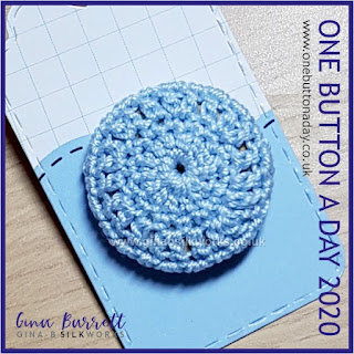 Day 195 : Crochet Cover - One Button a Day 2020 by Gina Barrett