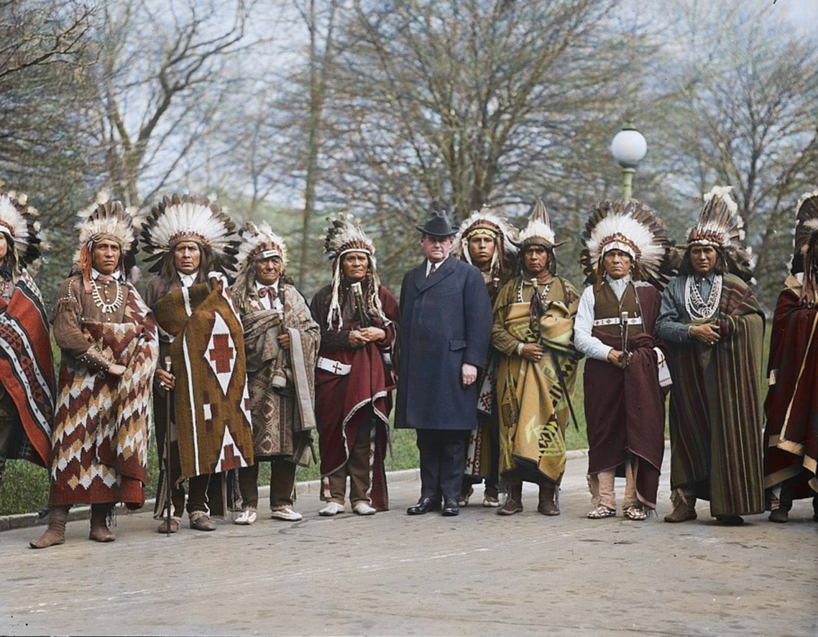 Historical Colorized Pictures Show Native Americans At The