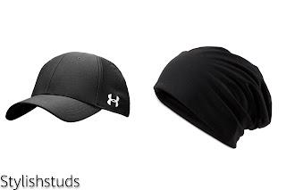 A summer's cap and a black beanie cap