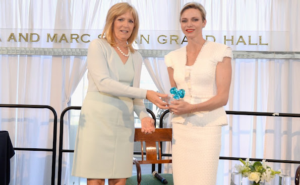 Princess Charlene of Monaco attends the Blue Ribbon of the Los Angeles Music Center honoring Princess Charlene of Monaco at Grand Hall