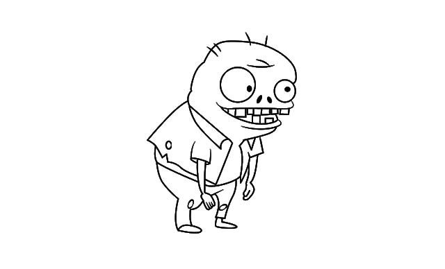 dibujo facil zombie dibujar