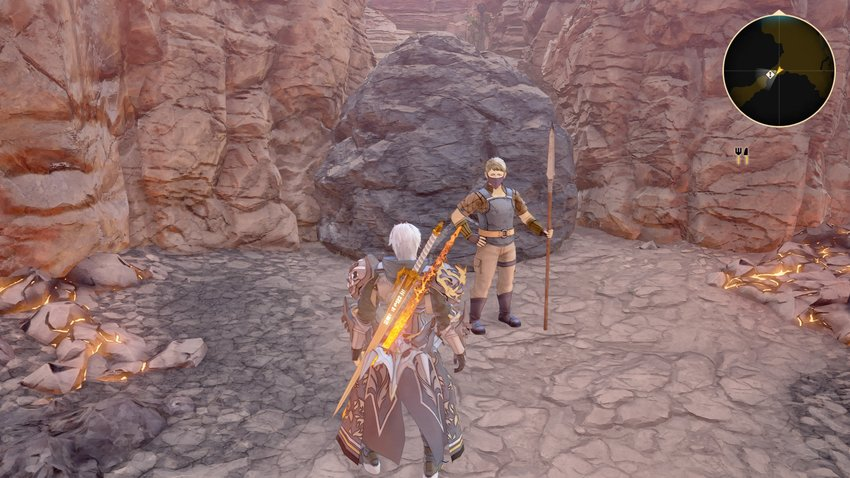 Tales of Arise: Solve card action in the Igloo Wasteland (open locked area)