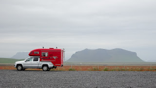 Campervans along the Ring Road