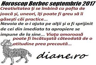 Horoscop septembrie 2017 Berbec