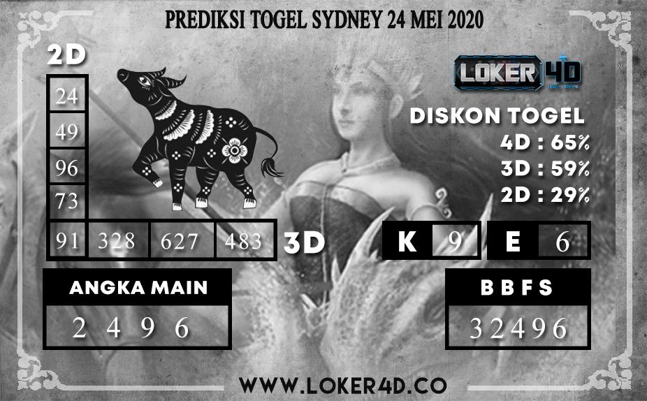 PREDIKSI TOGEL SYDNEY 24 MEI 2020