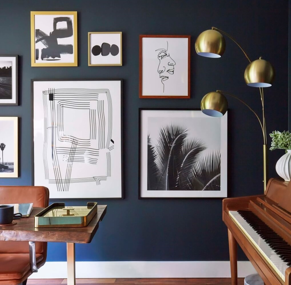 Decora O Com Azul Marinho Branco E Dourado Decora O E Ideias -> Decoracao De Sala Azul Marinho