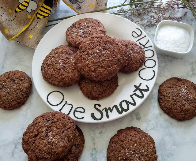 Keto Salted Caramel Chocolate Cookies