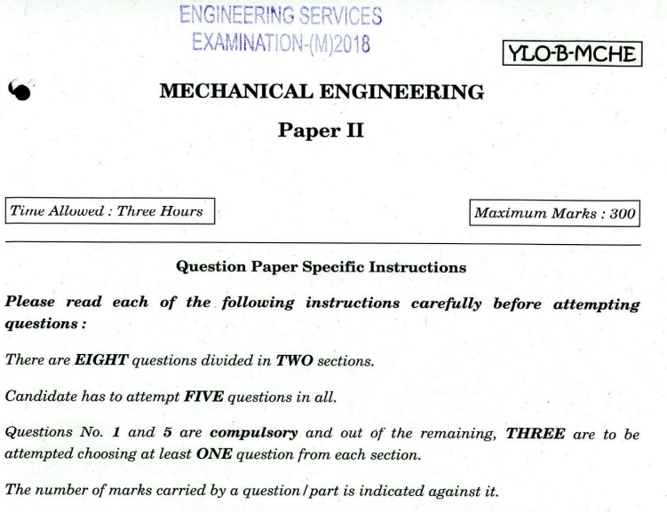 ies mechanical question paper