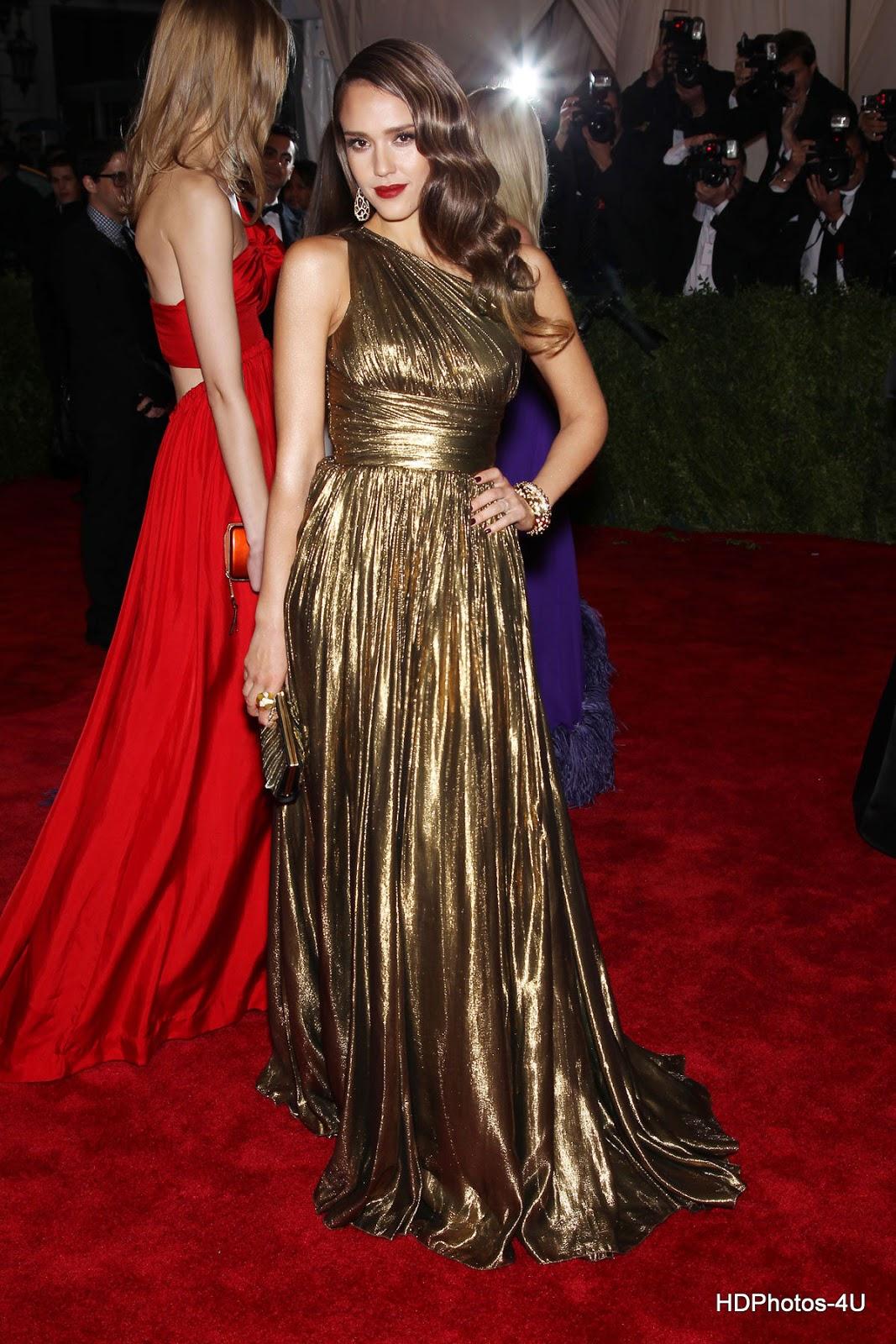 Full HQ Photos of Jessica Alba at Metropolitan Museum of Art's Costume Gala 2012 in New York