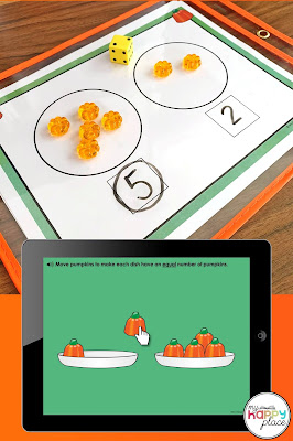 Comparing Numbers 0-5 with Pumpkins