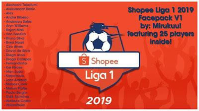 PES 2017 Facepack Shopee Liga 1 by Mirukuu