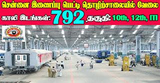 ICF Chennai Recruitment 2021 792 Apprentice Posts