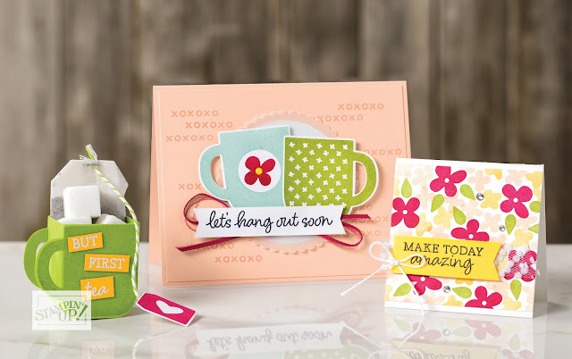 Stampin' Up Sale-a-Bration second release Rise & Shine stamp set samples