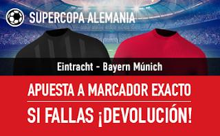 sportium promocion supercopa alemania Eintracht vs Bayern 12 agosto