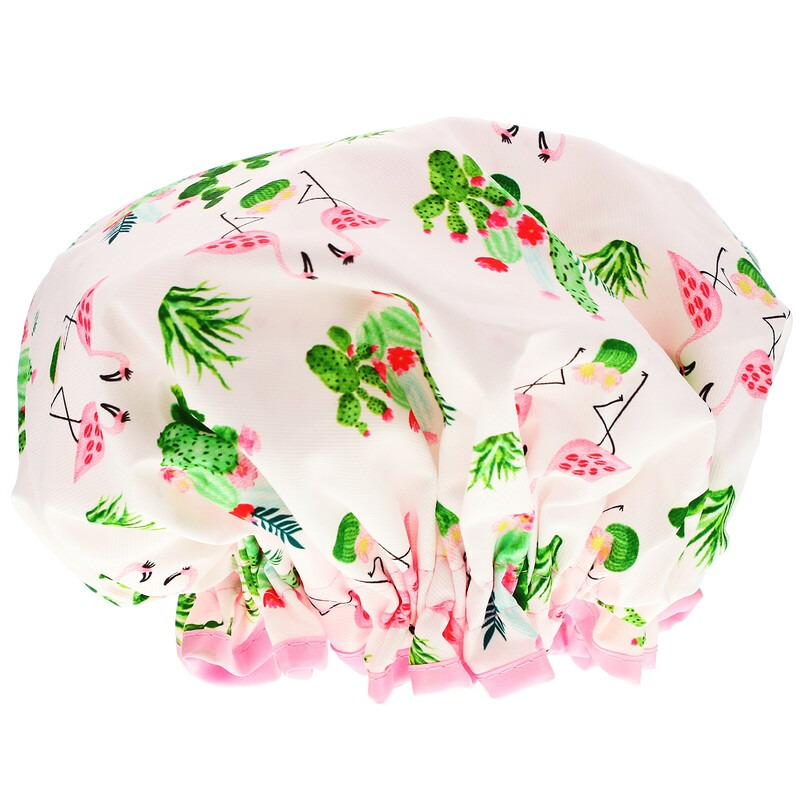 The Vintage Cosmetic Co., Shower Cap, Cactus and Kisses, 1 Count