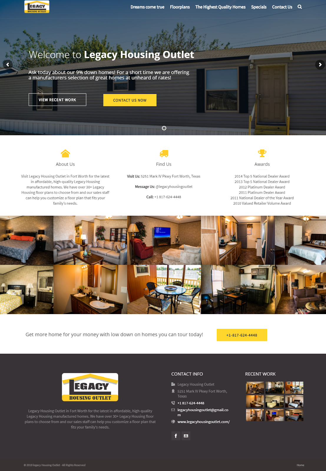 Legacy Housing Outlet Website Development