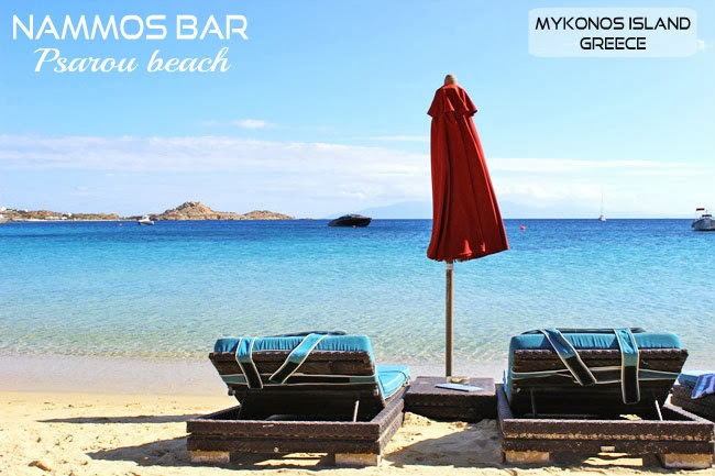 Nammos bar Psarou beach photos Mykonos island.Mykonos island celebrity spots.
