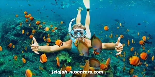 aktivitas selam permukaan wisata pulau tidung