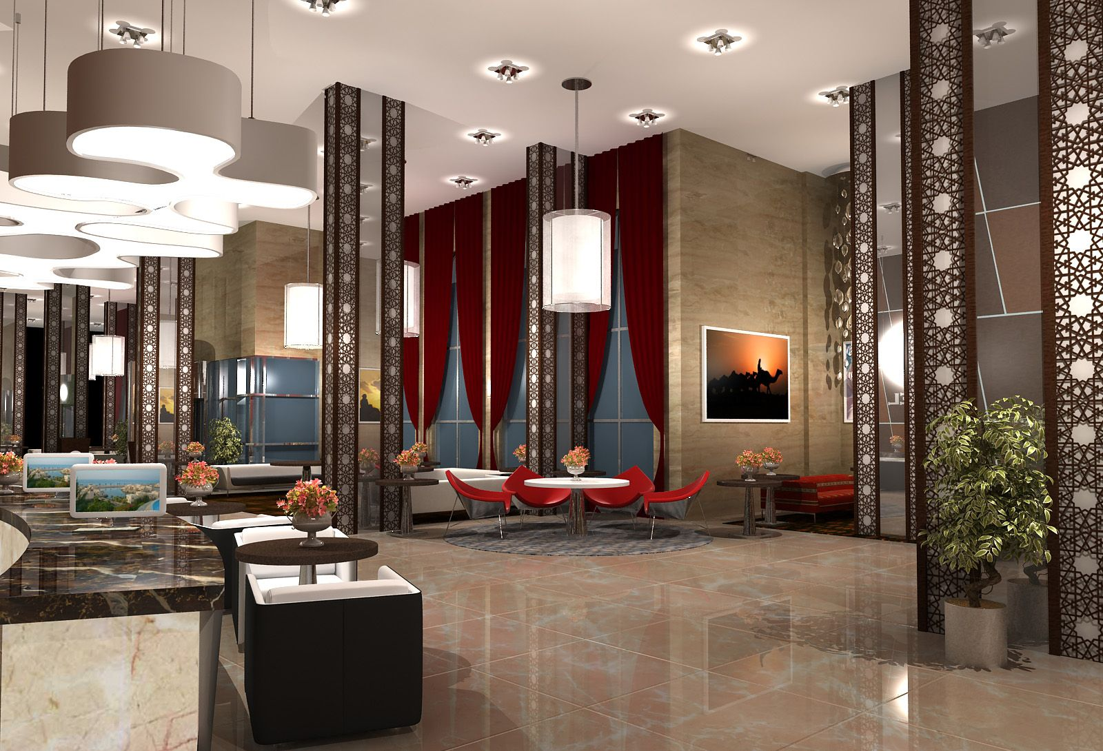 the first ferry manazil five star hotel lobby design