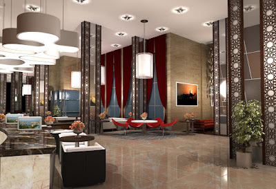 The first ferry manazil five star hotel lobby design for Design hotel 4 stars
