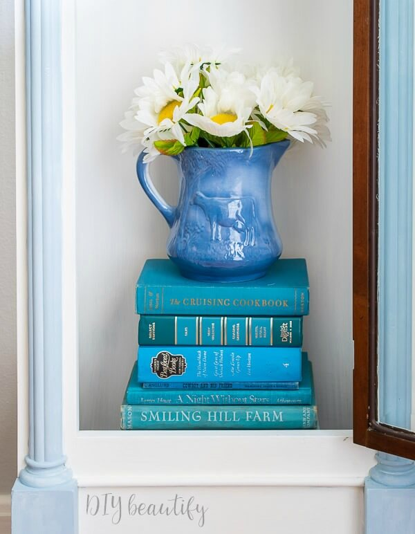 blue vintage books