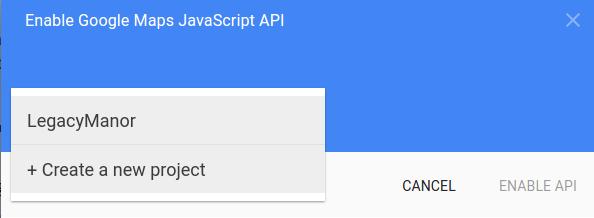 create map api project