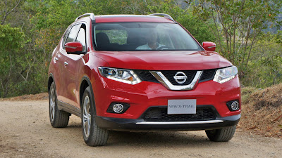 2016 Nissan X-Trail SUV Hd red color image