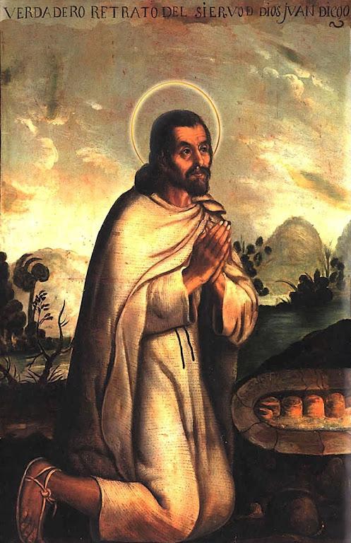 São Juan Diego, a quem apareceu Na. Sra. de Guadalupe. Cooperou decisivamente no batismo do povo mexicano.