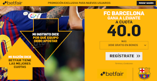 betfair supercuota Barcelona gana a Levante 16 diciembre