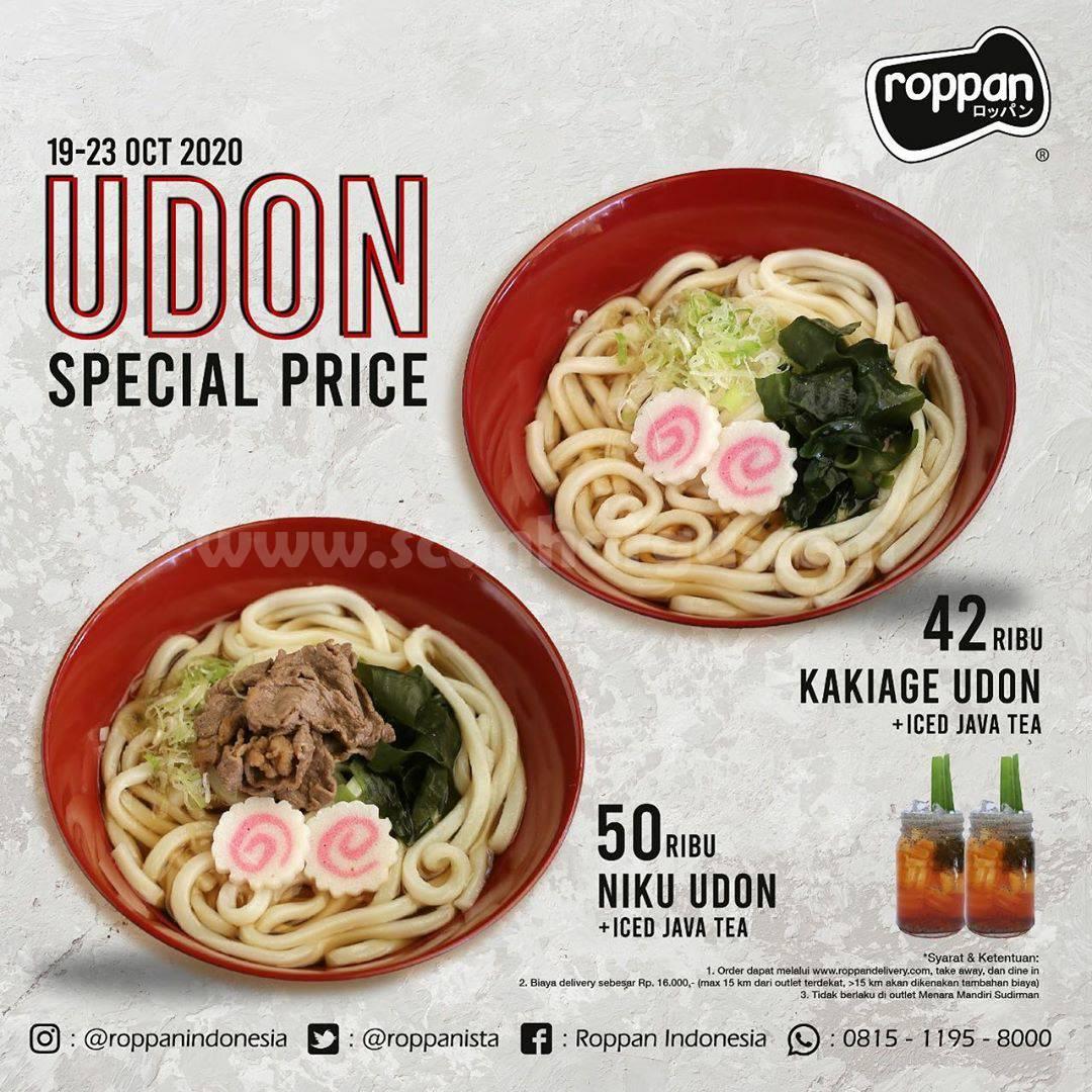Roppan Promo UDON Special Price mulai Rp 40Ribuan