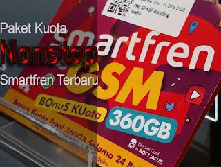 Paket Kuota Nonstop Smartfren Terbaru