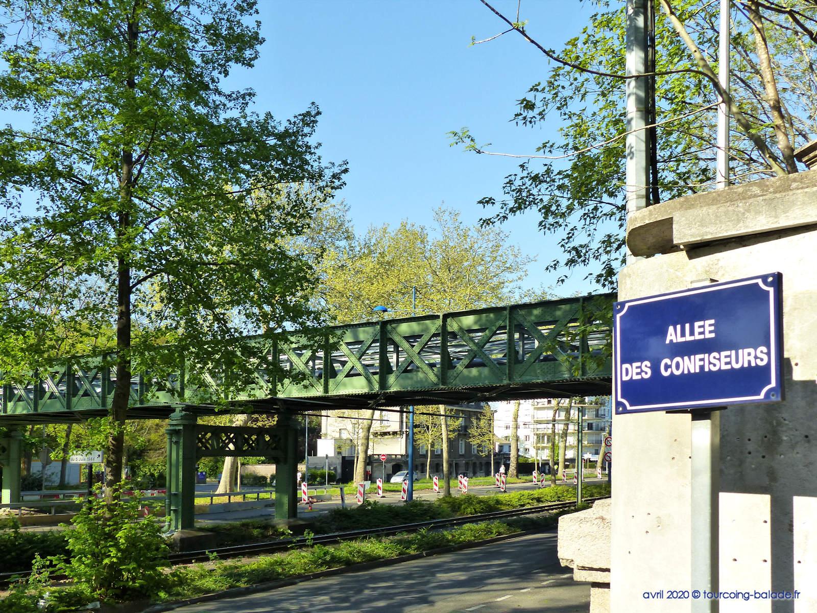 Ancien pont ferroviaire, Avenue de la Marne, Tourcoing - 2020