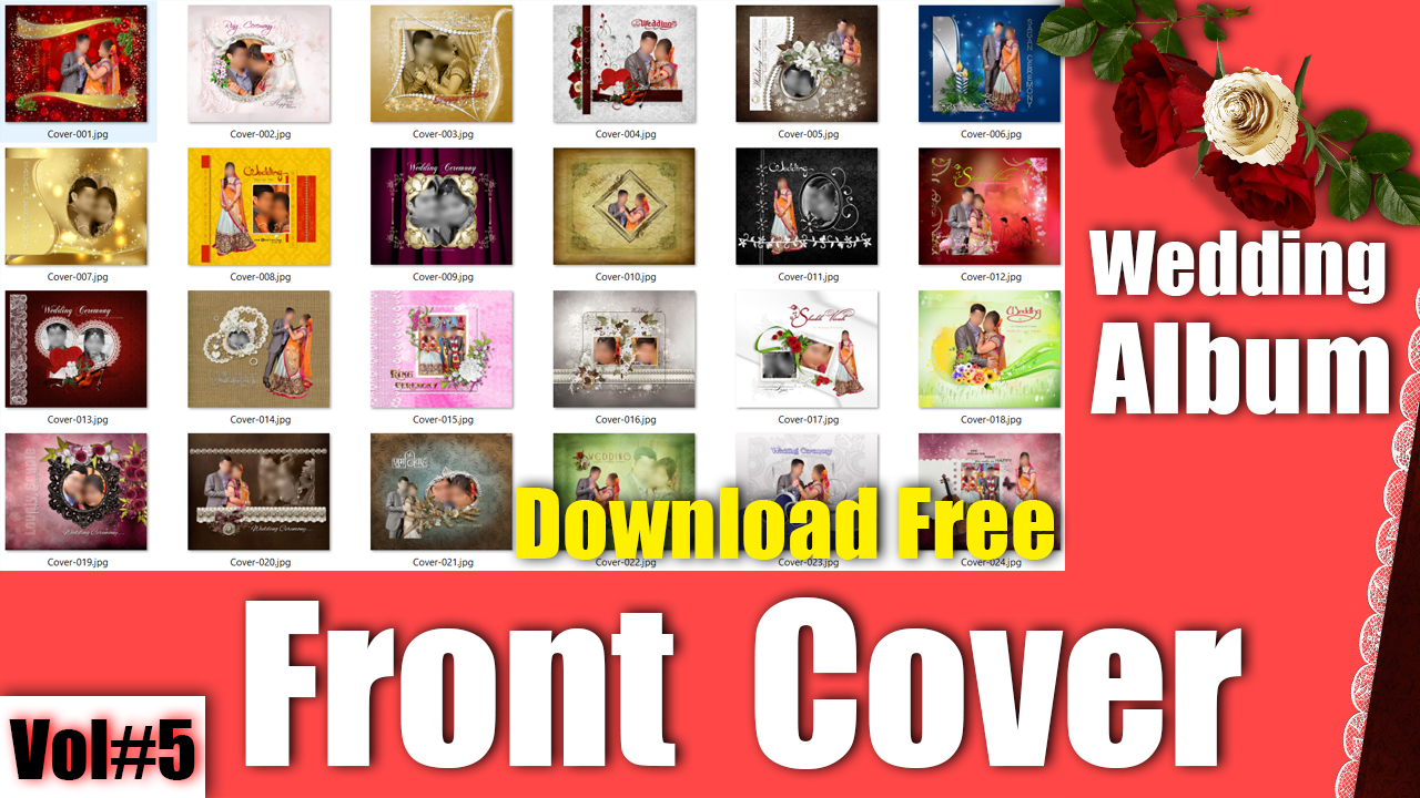 25+ Best Modern Wedding Album Front Cover PSD Templates Vol#5 - Desi ...