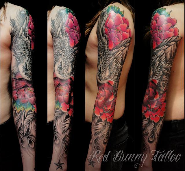 tattoo phoenix peony タトゥー 鳳凰 牡丹