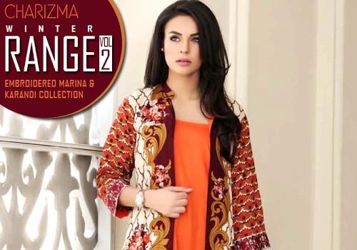 270b29da6 Charizma Range Vol-2 Winter Collection 2015-16 | Marina & Karandi with Pashmina  Shawl | She-Styles | Pakistani Designer Dresses - Fashion Weeks - Lawn ...
