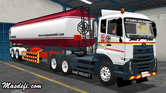 livery truck ud quester trailer tangki pt surya jaya mandiri