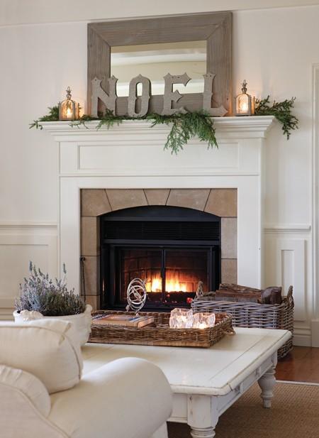 Decorar la chimenea en navidad ministry of deco - Chimeneas para decorar ...