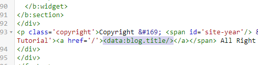 On the theme html edit
