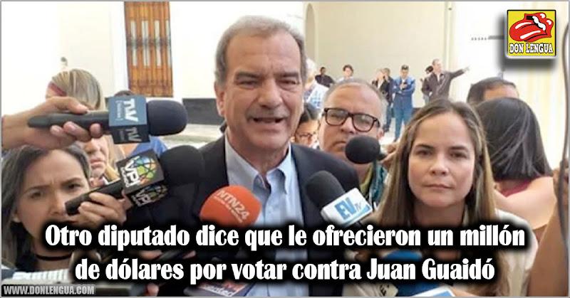 Otro diputado dice que le ofrecieron un millón de dólares por votar contra Juan Guaidó