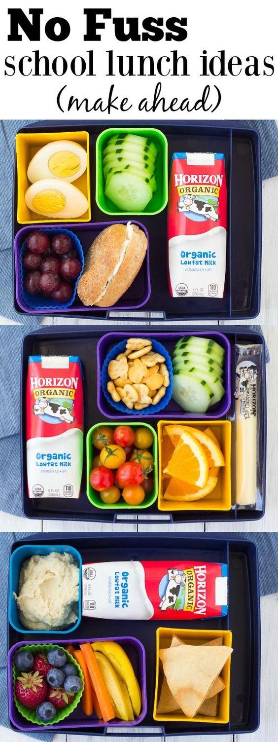 No Fuss School Lunch Ideas