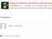 Cara menambahkan plugin komentar facebook pada Blog paling gampang