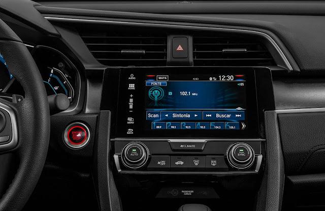 Novo Honda Civic 2017 Touring - interior - painel