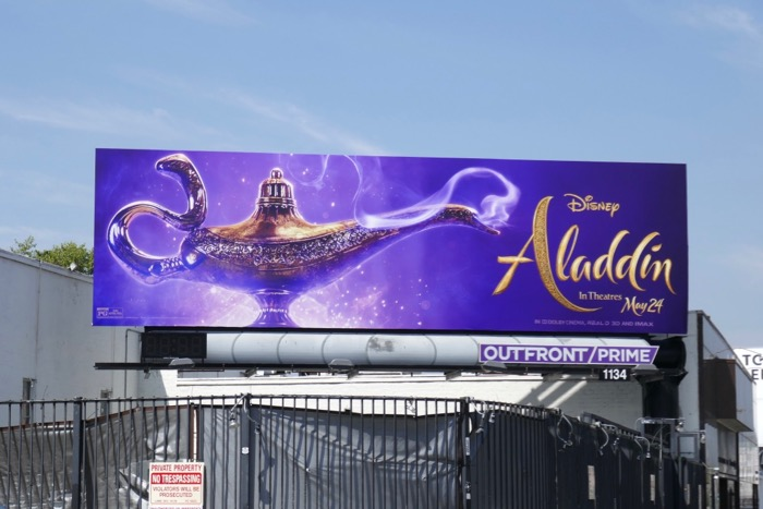 Aladdin movie billboard