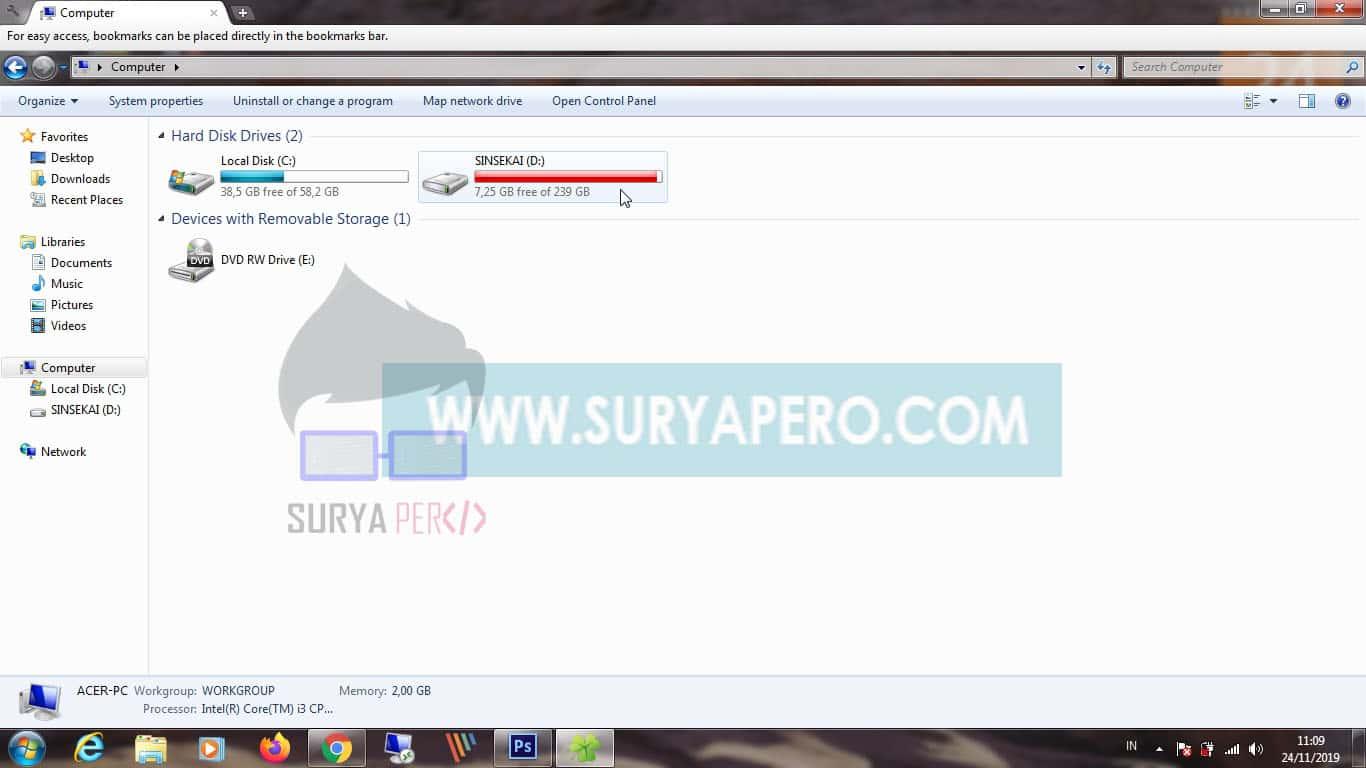 cara screenshoot cursor mouse