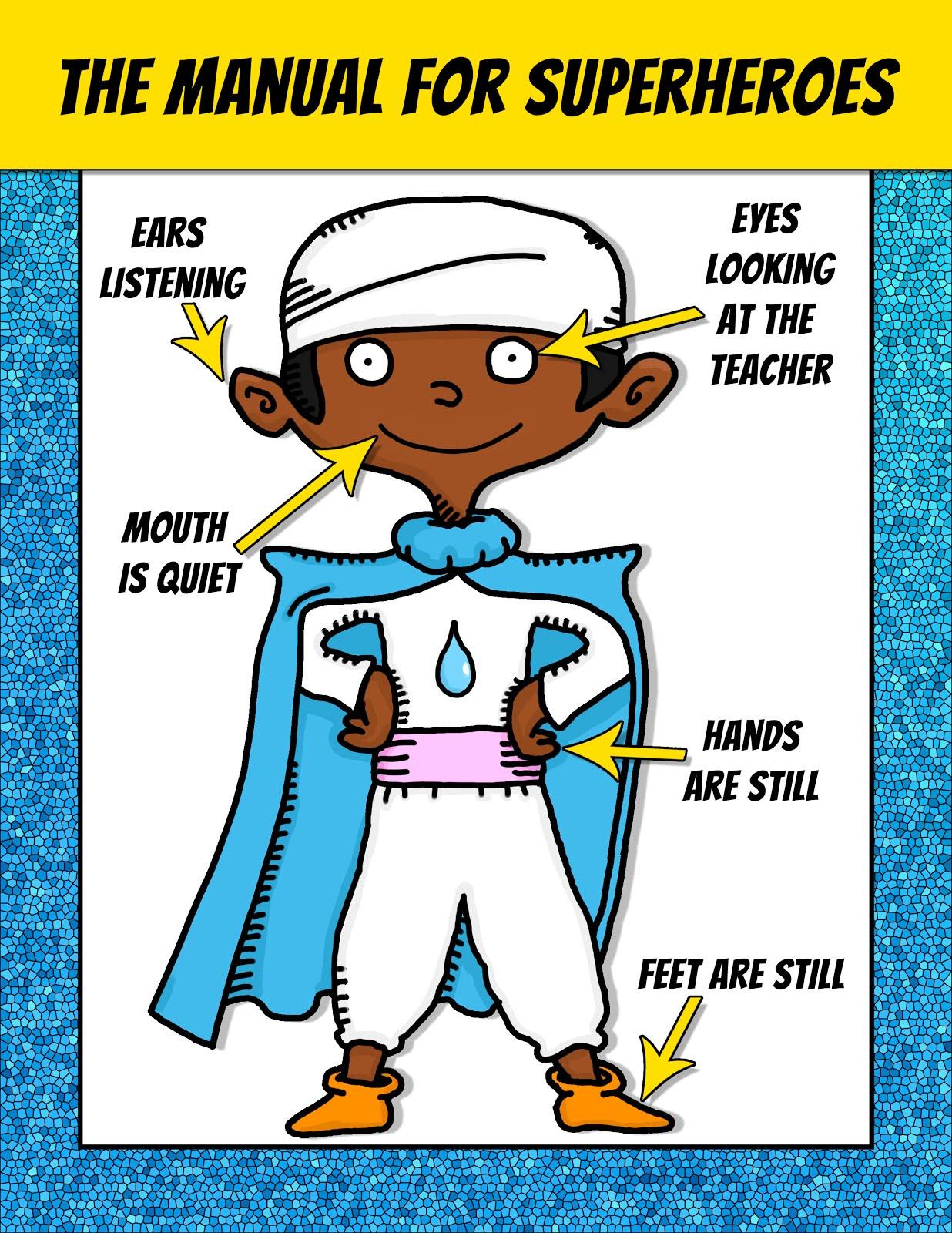 Spanish Teacher From Spain Superhero Classroom Posters Free