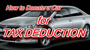 Car Donations Benefit You at Tax Time