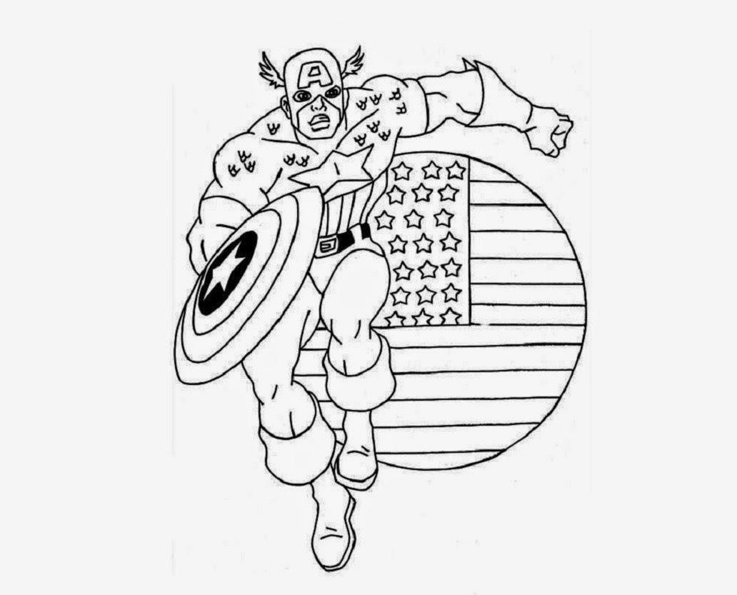 Captain America Color Pages - Democraciaejustica