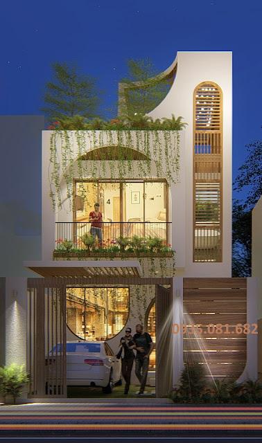 mẫu nhà phố 2.5 tầng hiện đại độc đáo