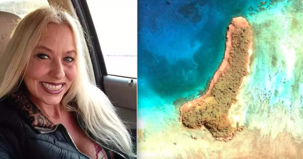 Woman Shocked After Discovering A 500 Metre Penis Shaped Island In The Middle Of The Pacific